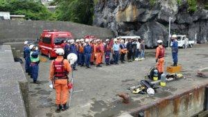 7/11(木)伊東市官民合同水難救助訓練に参加しました
