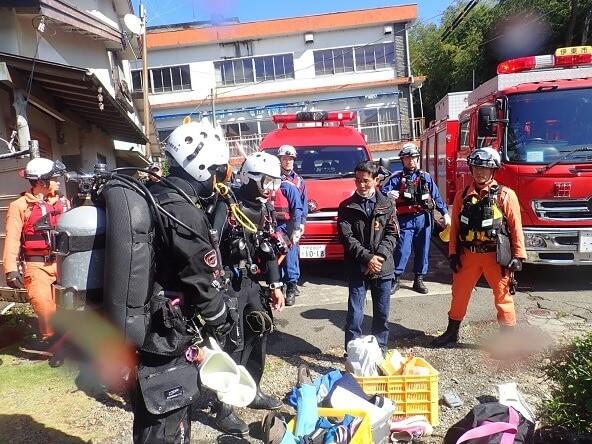 10/30(水)水難救助合同訓練に参加しました