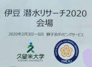 2/3(月)伊豆潜水リサーチのサポート